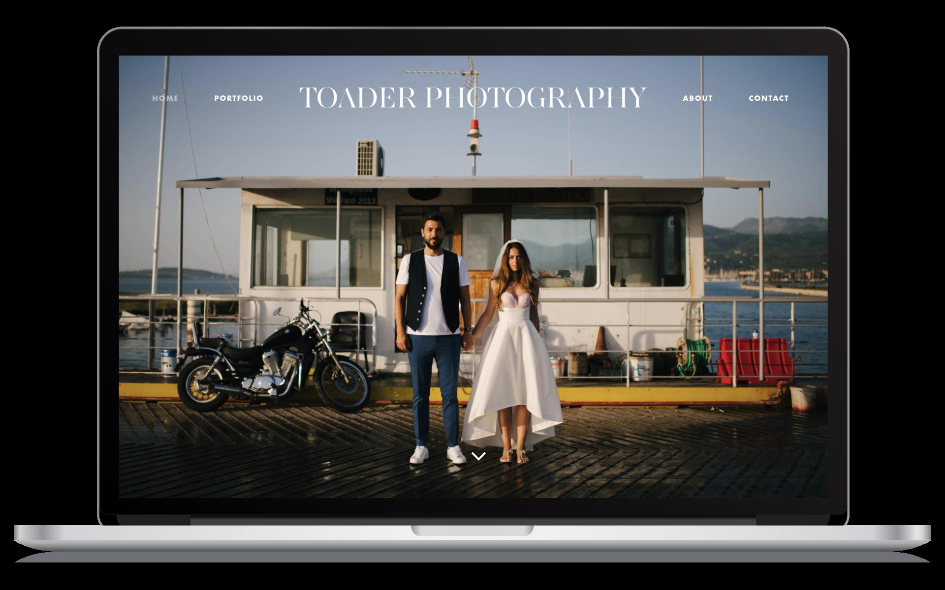 Crea il sito web di un fotografo di matrimoni