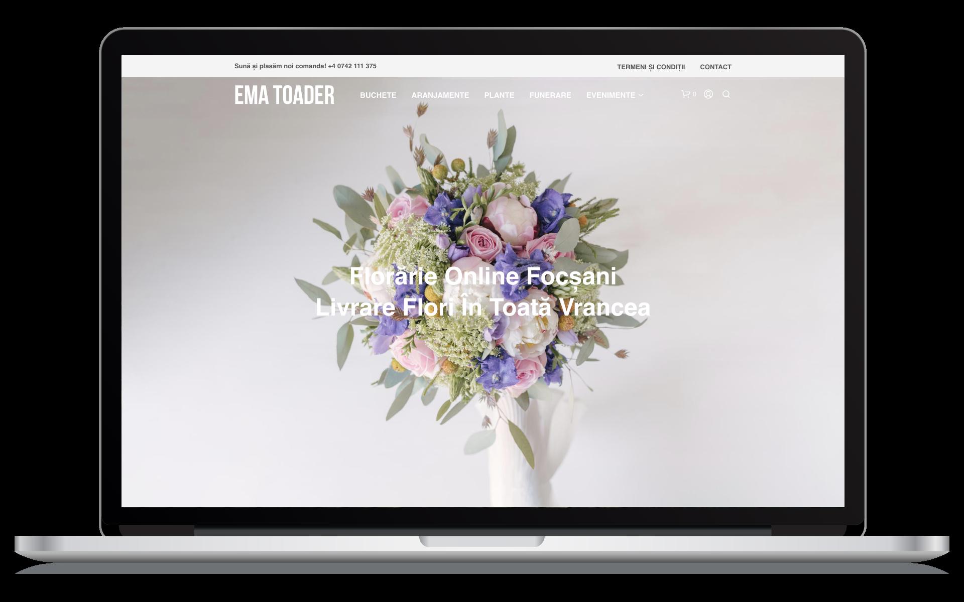 Crea un sito web per fioristi online